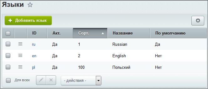 Список языков