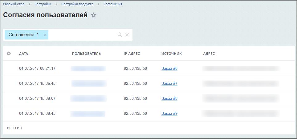 Согласие на обработку персональных данных битрикс управление свойствами товаров в 1с битрикс