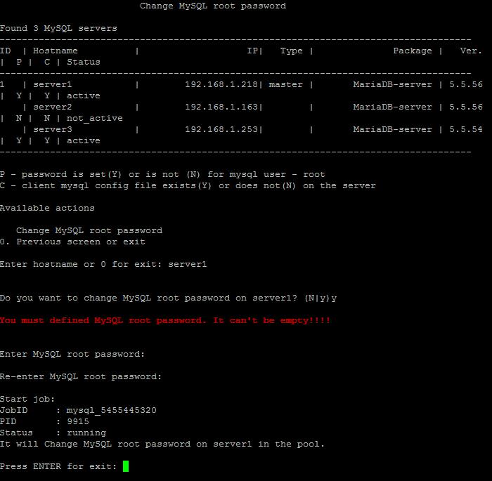Изменить пароль базы mysql битрикс вальянов битрикс