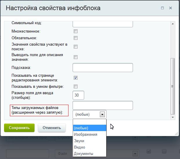 Тип загружаемых файлов битрикс загрузить контрагентов в битрикс24
