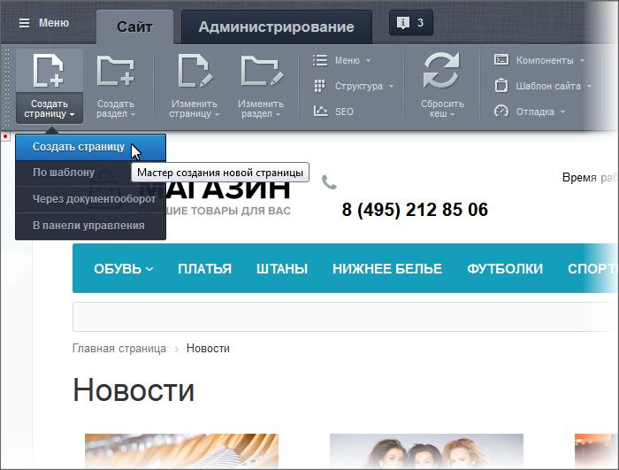 Как скопировать страницу из битрикса меню с картинками из разделов инфоблока битрикс